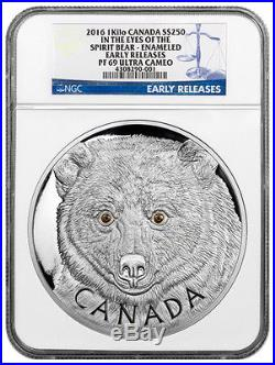 2016 Canada $250 1 Kilo Proof Silver Eyes of Spirit Bear NGC PF69 UC ER SKU39073