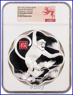 2016 Canada $250 1 Kilo Silver Year of Monkey NGC PF70 (Monkey Label) SKU36858