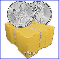 2016 Canada Silver Maple Leaf 1 oz $5 BU Sealed 500 Coin Monster Box