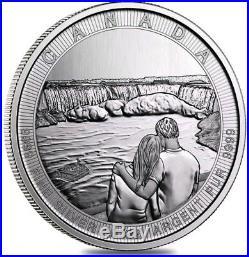 2017 10 Oz Silver $50 Canada THE GREAT CTG NIAGARA FALLS Coin