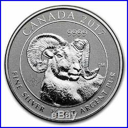 2017 $2 Canada. 9999 3/4oz Big Horn Sheep Silver Reverse Proof 30pc Roll