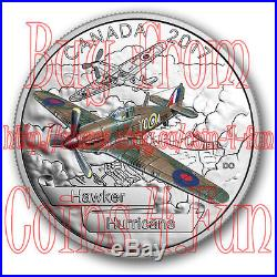 2017 Canada Aircraft of WWII #1 Hawker Hurricane $20 Pure Silver Coin