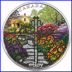 2017 Canada Enchanted Garden 2 oz Silver Proof $30 WithFiligree Gate OGP SKU48832