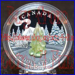 2017 Canada Murano Snow-Covered Tree 1 oz $20 Fine Silver Coin