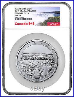 2017 Canada Niagara Falls 10 oz. Silver $50 Coin NGC MS70 SKU46749