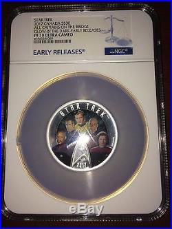 2017 Canada Silver $30 Star Trek Five Captains 2 oz PF70 UC ER NGC Coin