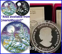 2017 Great Horned Owl Moonlight Glow-In-Dark 2OZ Pure Silver $30 Coin Canada