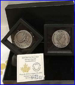 2017 Ornithomimus Ancient Canada $20 1OZ Pure Silver Antique Coin Canada