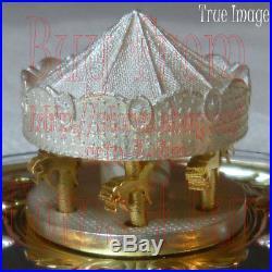 2018Low COA #62Antique Carousel6 OZ $50 Pure Silver Gold-Plated CoinCanada