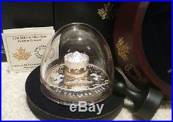 2018 Antique Carousel $50 6OZ Pure Silver Gold-Plated Proof Canada Coin COA#47