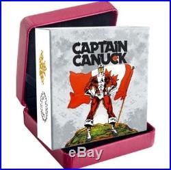 2018 CANADA $20 CAPTAIN CANUCK Rectangular 1oz. 9999 Pure Silver Coin NO TAXES