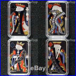 2018-Historical Currency of Canada-Playing Cards of New France-Silver 4-Coin Set