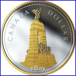 2018'National War Memorial Canada Renewed Silver Dollar' Proof 2 oz Coin