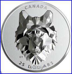 2019 $25 Canada Silver Wolf Multifacated High Relief Proof. SOLD OUT AT RCM