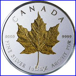 2019 40th Anniversary of Gold Maple Leaf $20 1 OZ Pure Silver Coin Canada