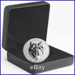2019 Canada 1 oz Multifaceted Animal Head Wolf EHR Silver Proof Coin