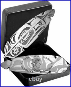 2019 Canada Eagle Feather $20 pure silver coin Northwest aboriginal art