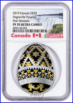 2019 Canada Ukrainian Pysanka Vegreville Egg Shaped $20 NGC PF70 UC FR SKU57021