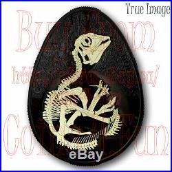 2019 Hatching Hadrosaur Dinosaur $20 Glow-In-The-Dark Pure Silver Coin Canada