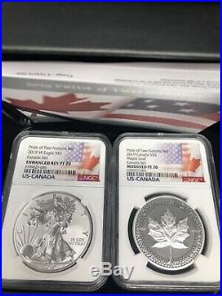 2019 PRIDE OF TWO NATIONS 2 COIN SET NGC REV PF70 RCM LIMITED EDITION Canada Set