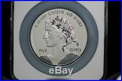 2019 Peace & Liberty Silver 10Oz Medal NGC Rev PF 70 Canada 1st Release COA