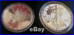 2019 Pride of Two Nations 2-Coins Set (RCM Canada Release) ASE & Maple Silver