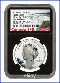 2020 Canada 1 oz Ultra High Relief Silver Peace Dollar NGC PF69 UC FR SKU58754