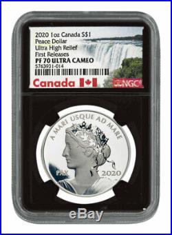 2020 Canada 1oz Ultra High Relief Silver Peace Dollar $1 NGC PF70 UC FR SKU58756