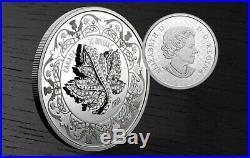 2020 Canada 2 oz. Pure Silver Coin Canadian Maple Leaf Brooch Legacy
