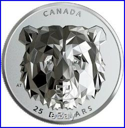 2020 Canada Grizzly Bear Multifaceted Silver High Relief RCM NEW BOX & COA