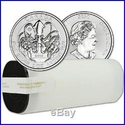 2020 Canada Silver Kraken Creatures of the North 2 oz $10 BU 14 Coin Tube