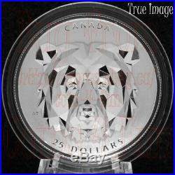 2020 Grizzly Bear Multifaceted Animal Head #2 $25 EHR Proof Silver Coin Canada