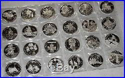 24 Superb Canada Silver Dollar Proofs (date Run 1992-2014) Awesome! No Rsrv