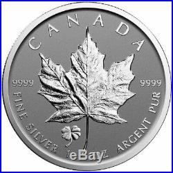 25x (one roll) 2016 Four-Leaf Clover Privy Canada 1 oz Silver Maple Leaf Coin