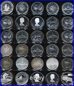 50 SILVER UNC OLD WORLD COINS (38+ TrOz Gross Wt) MOST CANADA NO RESERVE