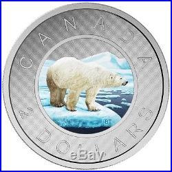 CANADA 2016 $2 5oz FINE SILVER COIN BIG COIN SERIES POLAR BEAR TOONIE A