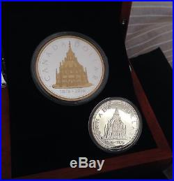 CANADA 2016 Renewed Library of Parliament 2oz & 1976 $1 Silver Dollar 2 Coin Set