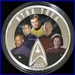 CANADA $30 2017 STAR TREK Five Captains 2oz Silver Proof OGP & COA