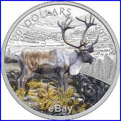 CARIBOU Rangifer Tarandus Silver Coin 20$ Canada 2014