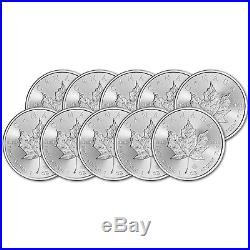 CA 2017 Canada Silver Maple Leaf (1 oz) TEN (10) Brilliant Uncirculated