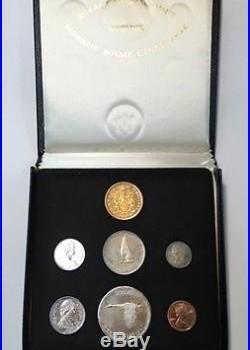 Canada 1867-1967 Centenial 7 Coin Set Silver with$20 Gold Coin Specimen Case Box