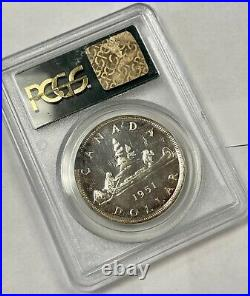 Canada 1951 $1 One Dollar Silver Coin PCGS Proof-Like PL-67
