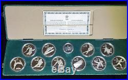Canada 1988 Olympic Games in Calgary Proof Sterling Silver 10-Coin Set