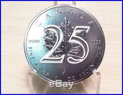 Canada 2013 1 Oz 25th Anniversary Silver Maple Leaf coin (BU) x 5