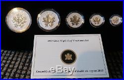 Canada 2013 25th Anniversary Silver Maple Leaf Fine Silver Fractional Set
