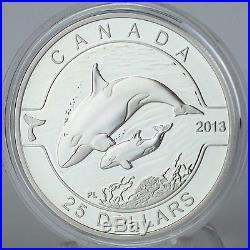 Canada 2013 Orca 1 oz. Pure Silver $25 Proof Coin O Canada 1 oz. Series #5