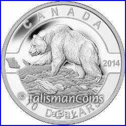 Canada 2014 O Canada Series #2 Grizzly Bear $10 Pure Silver Matte Proof