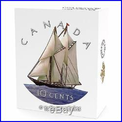Canada 2016 Big Coins Series #3 Bluenose Color 10 Cents 5 Oz Pure Silver Proof