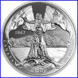Canada 2017 $100 10 oz Silver Confederation Medal Historia Tua Epos Est RCM