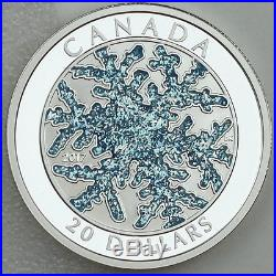 Canada 2017 $20 Snowflake 1 oz. 99.99% Pure Silver Color Enameled Proof